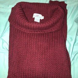 Burgundy vineyards long sweater